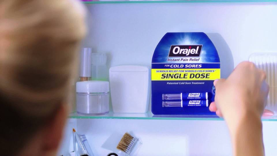 orajel single dose cold sore treatment review